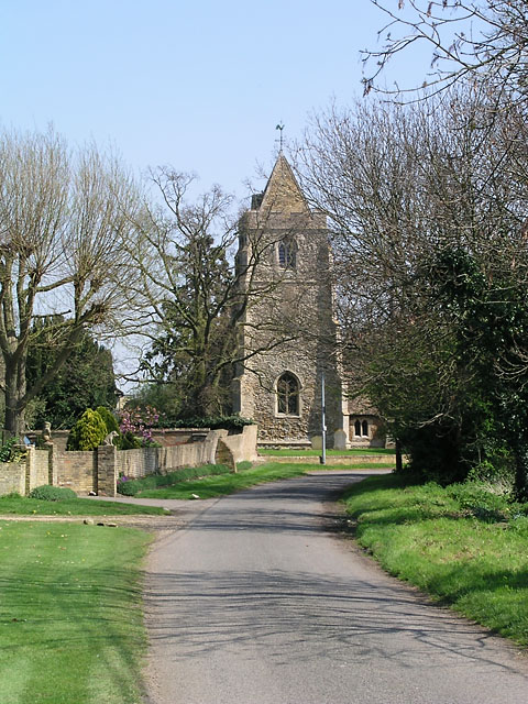 Looking east towards the church, Wentworth