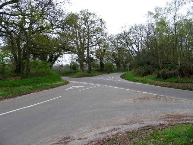 Intersection at  Ravelands Copse and Welsh Common