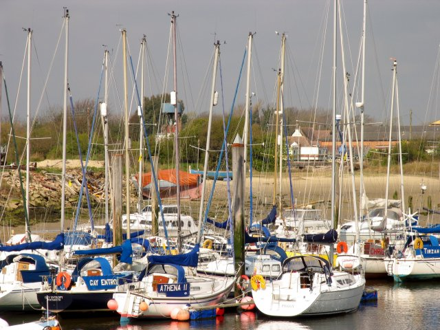 Yachts on the Arun at Littlehampton