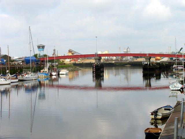 Bridge across to Industrial area at Littlehampton