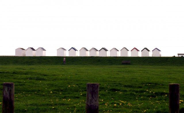 Beach Huts at Goring -by- Sea