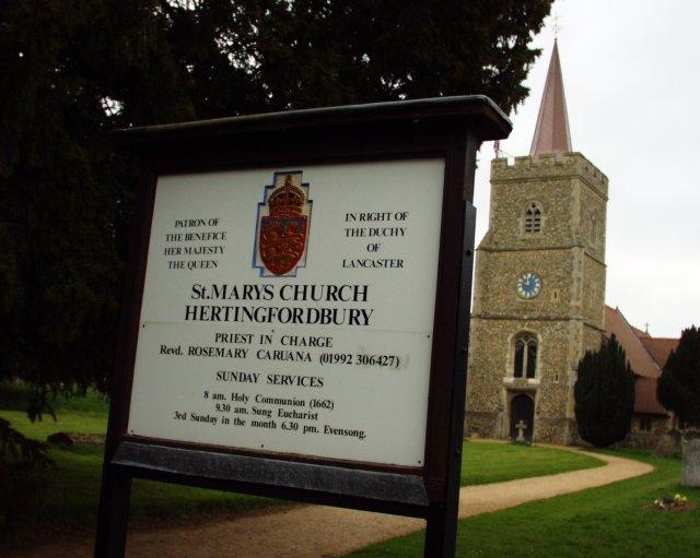 Hertingfordbury church