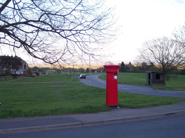 Victorian Fluted Pillar Box on Malvern Common.