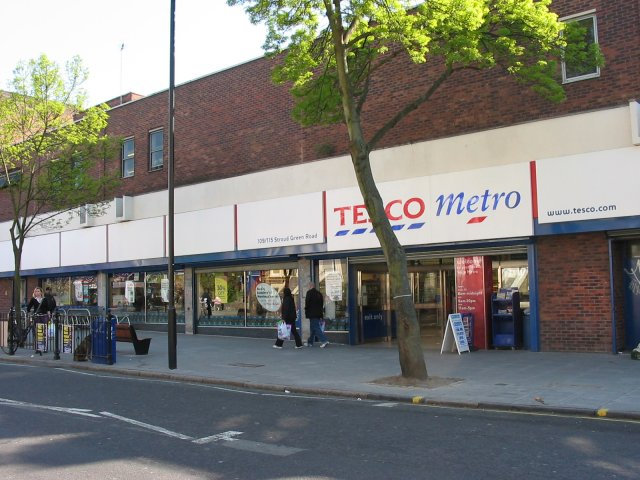 Tesco at Stroud Green , London N4