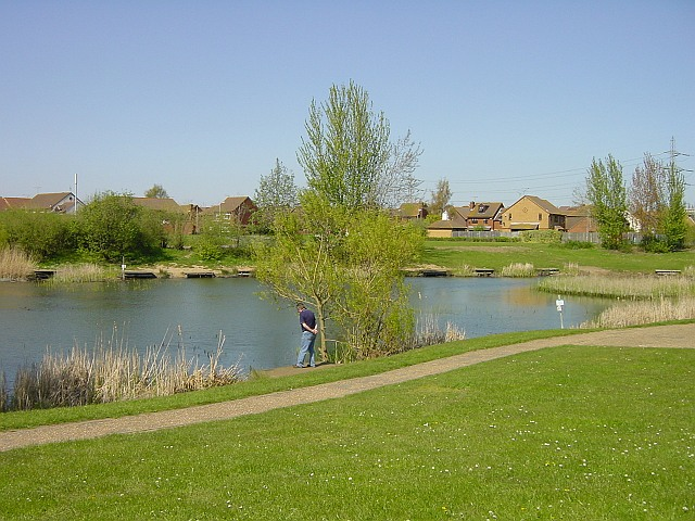 Pond incorporated into housing development