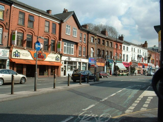 Rusholme -part of the 'Curry Mile'