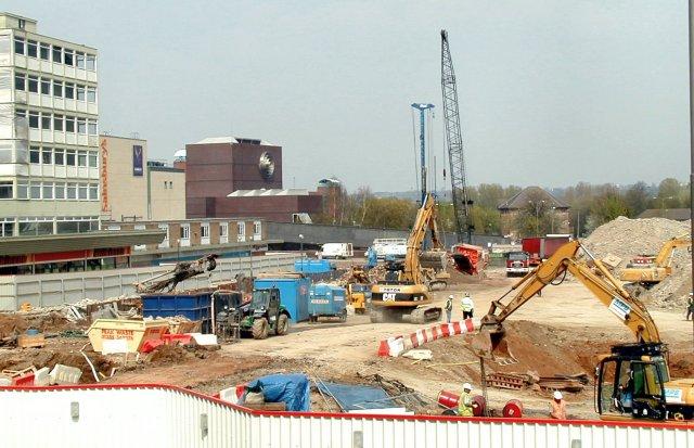 Work in progress on Derby Shopping Centre