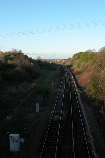 Looking from Newland Bridge towards Normanton Station