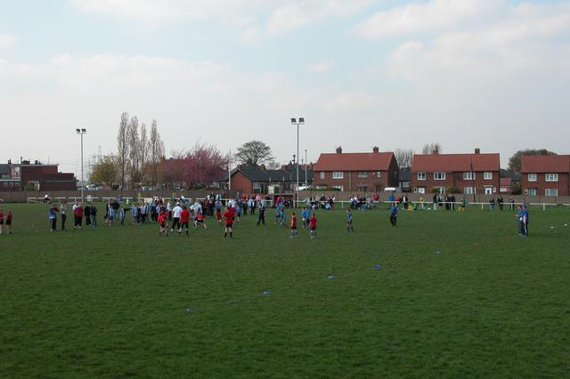 School rugby match at Normanton RLFC.