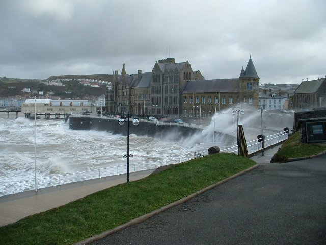 Old College Aberystwyth on a stormy day