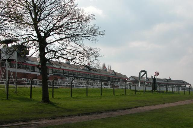 The grandstand at Pontefract Racecourse