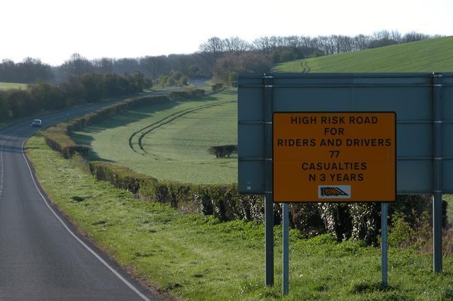 The A272 near Winchester.