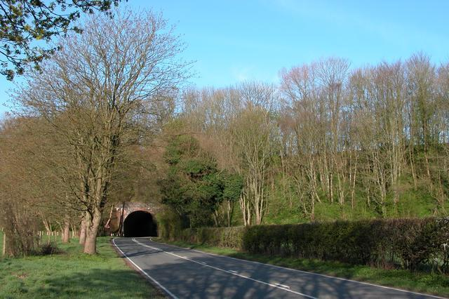 The disused Meon Valley railway line crossing the A272