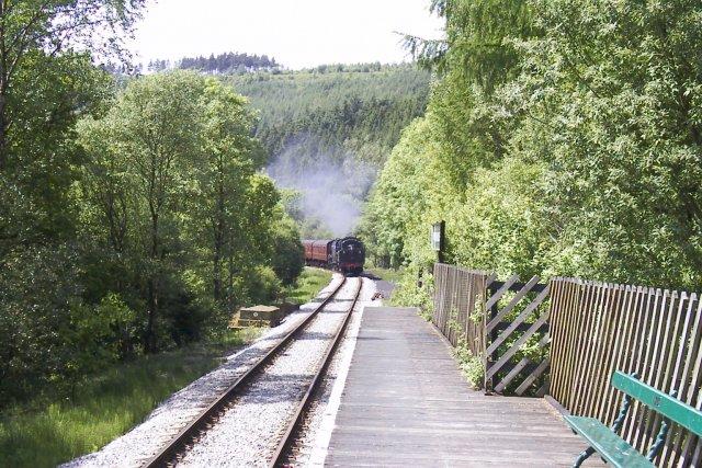Newtondale Halt on the North Yorkshire Moors Railway