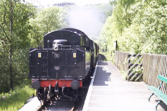 Newtondale Halt on the North Yorkshire Moors Railway