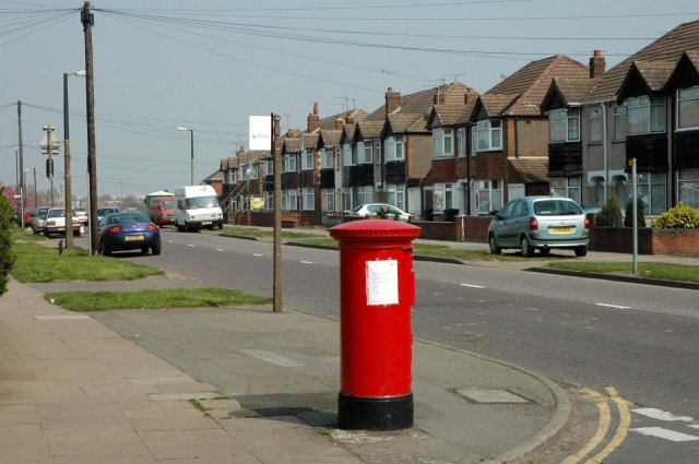 Pillar Box at the junction of Beake Avenue and Rylston Avenue