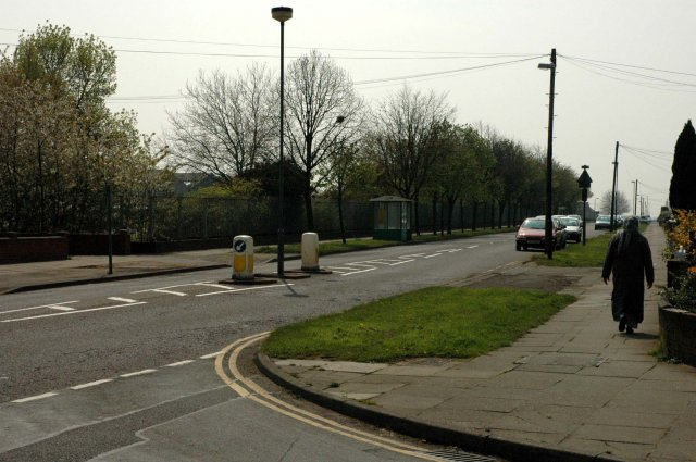 Looking down Beake Avenue from the junction with Rylston Avenue