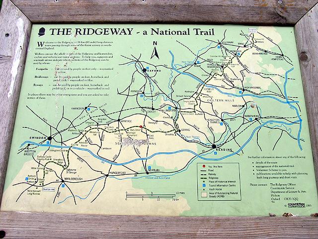 The Ridgeway: National Trail at Bury Down
