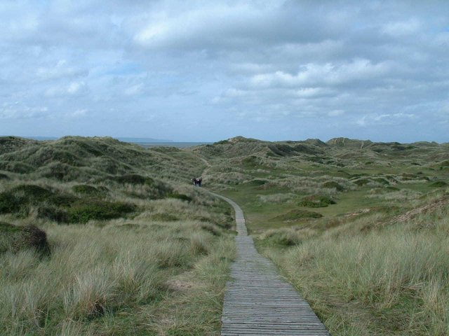 South West Coast Path at Braunton Burrows