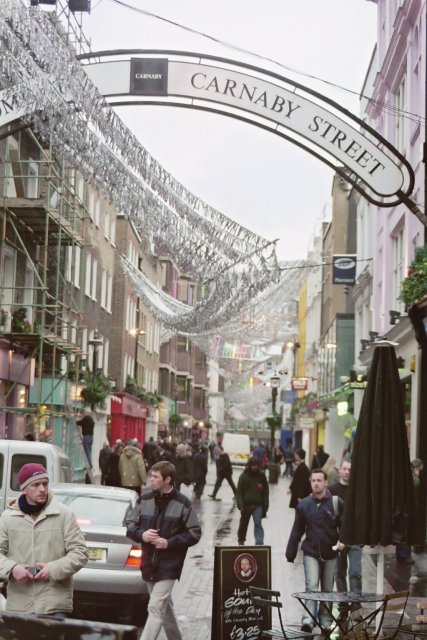 South down Carnaby Street on a winter's day