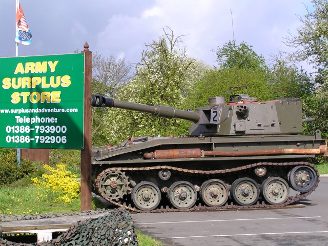 Army Surplus store at Coneybury Farm.