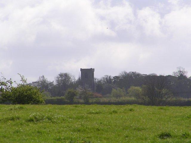 Abberton Church from Baynhall Farm.