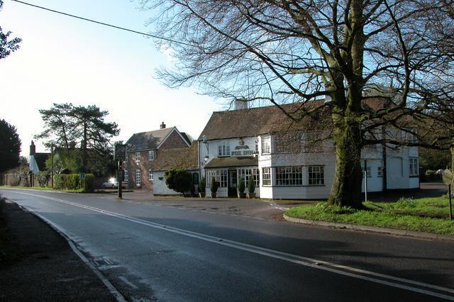 The Fox Inn at the Eastern end of Bramdean