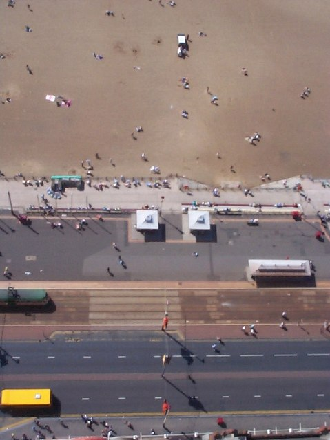 Blackpool promenade from above