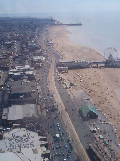 Blackpool Golden mile from above