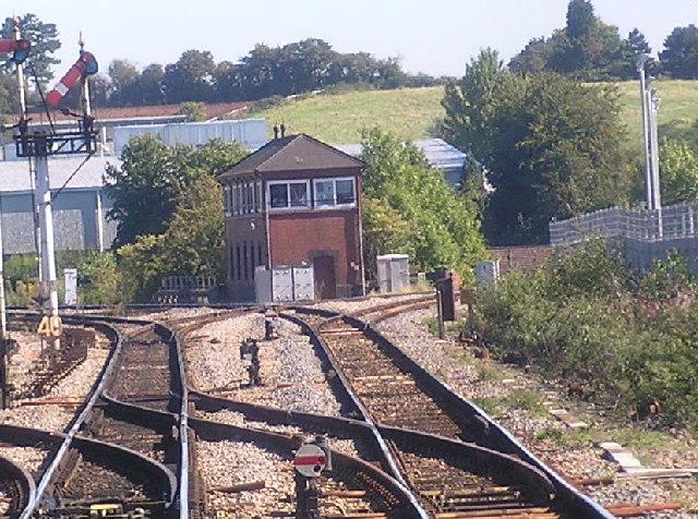 Droitwich Spa signal box.