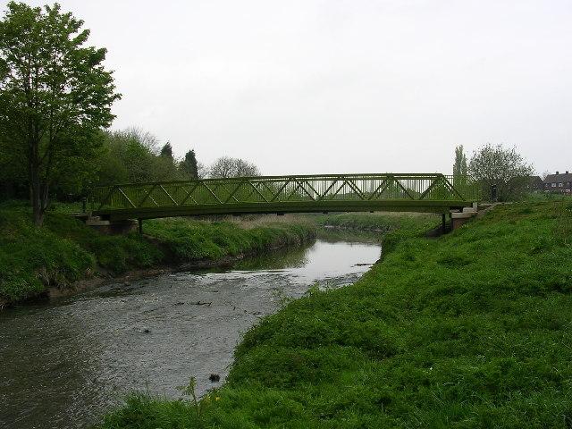 Footbridge over Glaze Brook