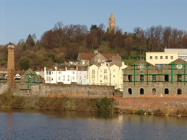 The Cabot Tower from across the Harbour, Bristol