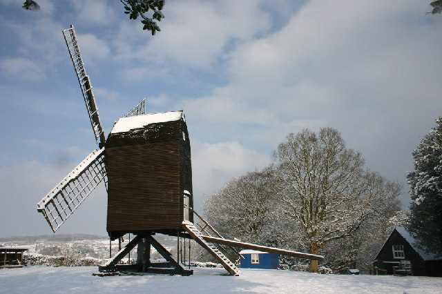Nutley Windmill in Snow