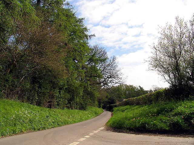 Country Lane near Kintbury and Irish Hill House
