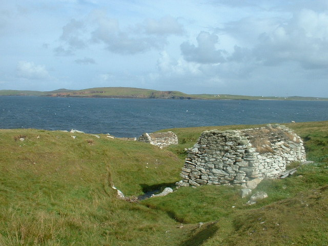 Ancient Water Mills at Huxter, Sandness, Shetland