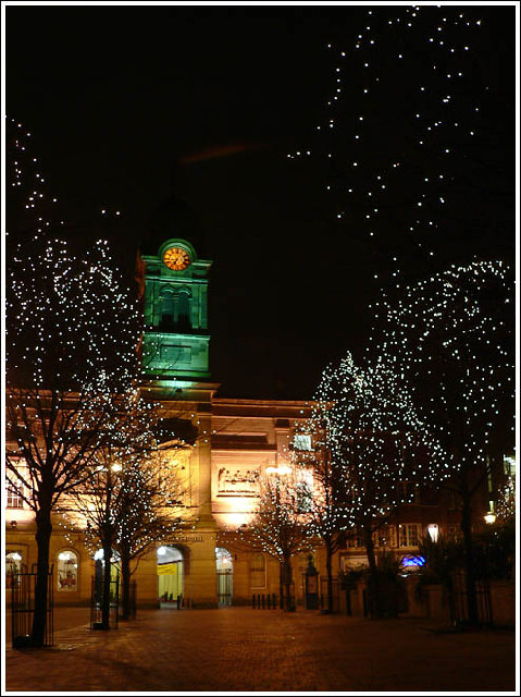 Derby Guildhall by night
