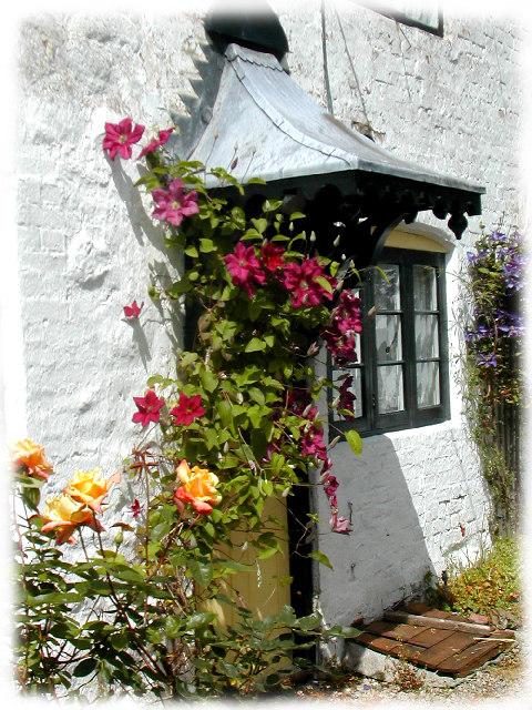 Avebury Doorway with Flowers