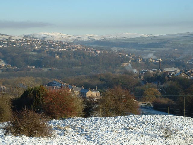 View over New Mills