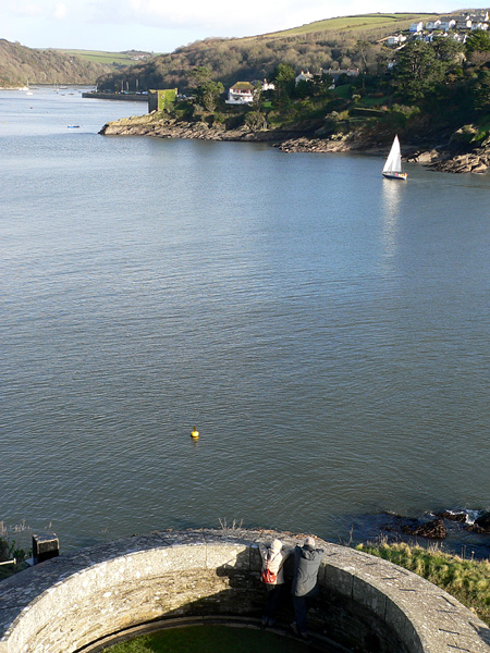 Fowey river mouth from St Catherines Castle