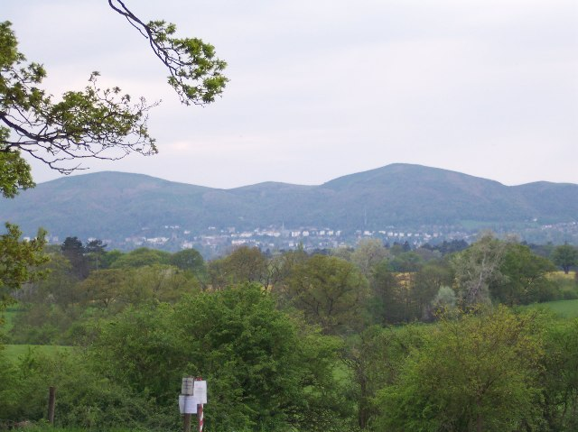 From the Old Hills looking out to Great Malvern
