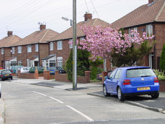 Residential area off Tileshed Lane, Cleadon Village