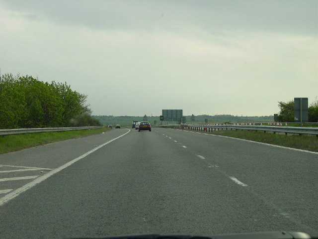 A194(M) leaving White Mare Pool heading South