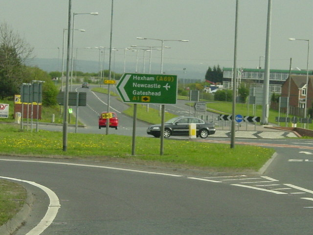 The junction with the A1 and Portobello, Birtley