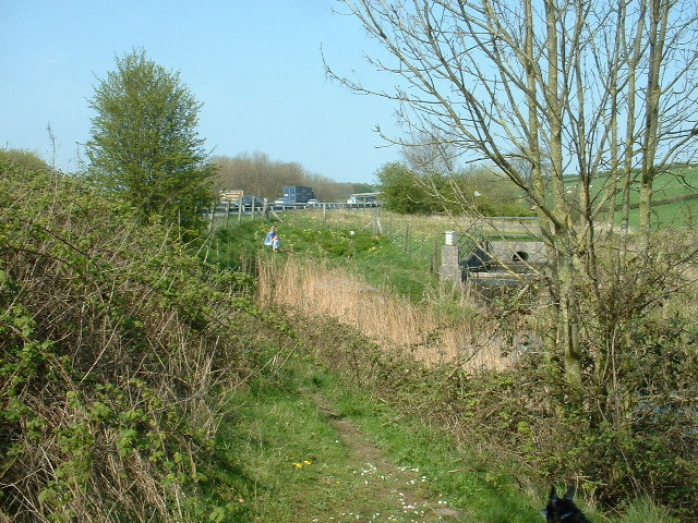 Lancaster Canal and M6 motorway, near Tewitfield