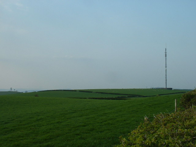Radio mast, near Hest Bank