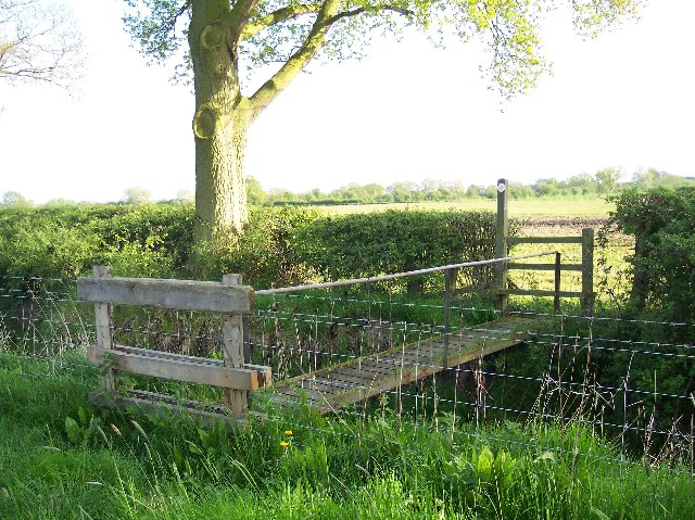 Footbridge over Longdon Marsh Drainage Ditch