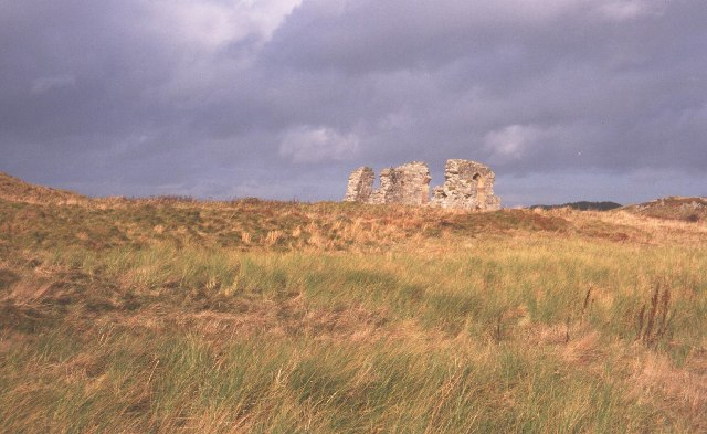 Ruined church, Ynys Llanddwyn.