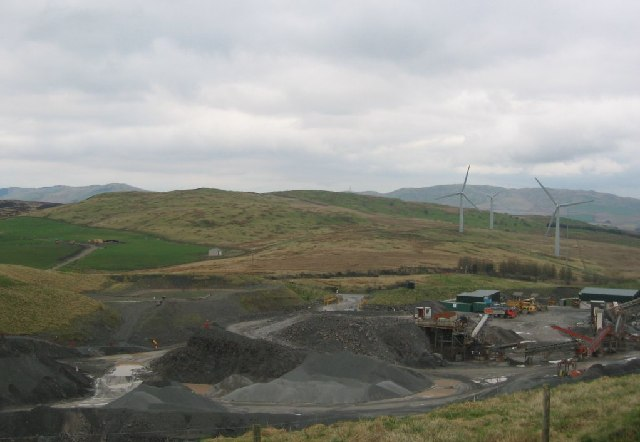 Quarry and powerstation, Lambrigg Fell