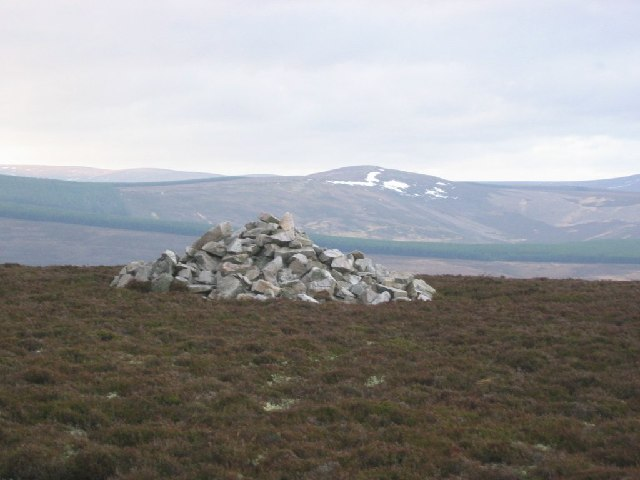 The summit cairn, The Bochel