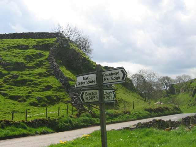 Crossroads on B5053 near Earl Sterndale